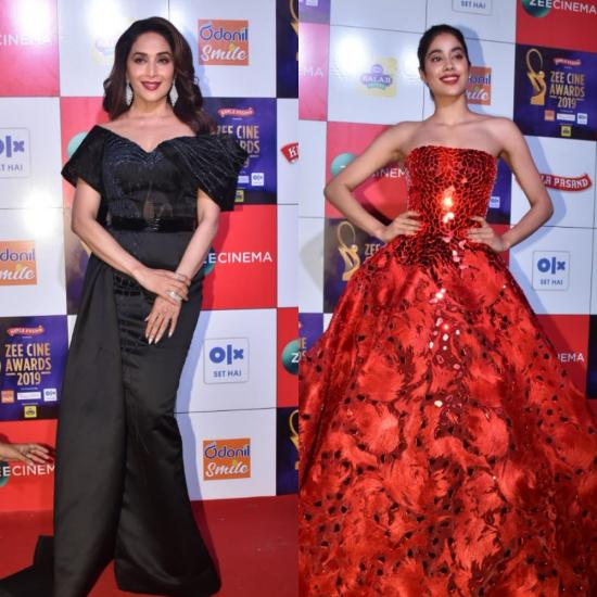 Zee Cine Awards 2019: Madhuri Dixit slays in a black outfit; Janhvi Kapoor is a perfect diva in red