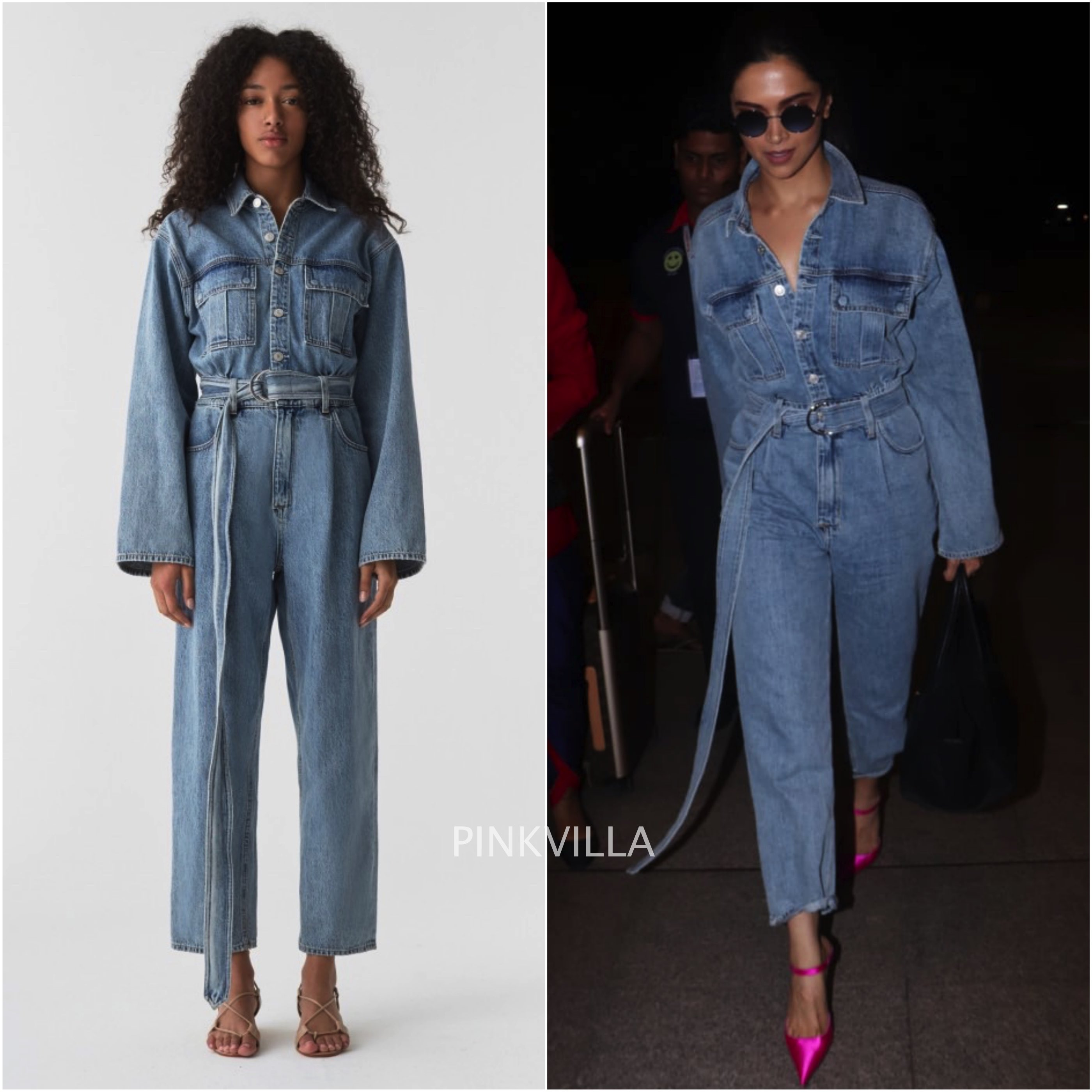 official images volume large newest style Deepika Padukone teams her denim jumpsuit with an ...