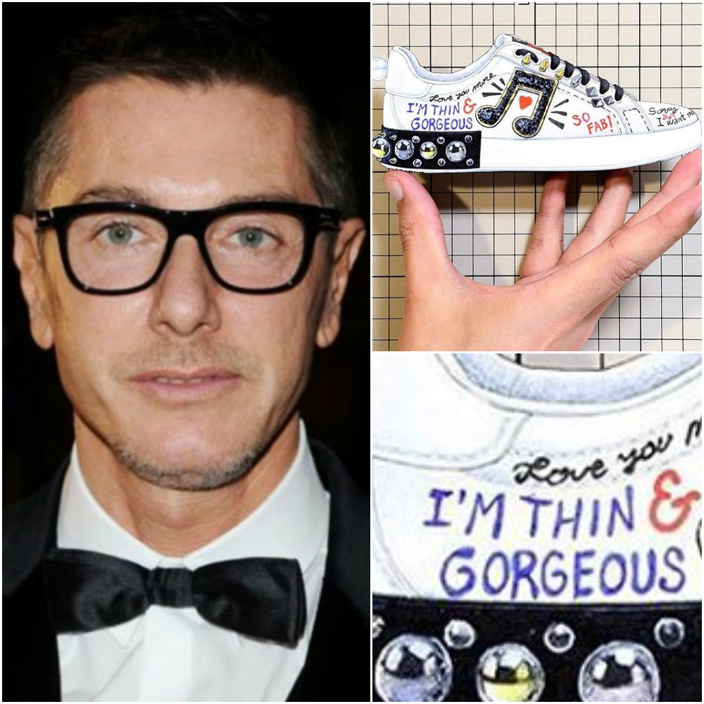 8afa92eb9 Dolce   Gabbana s new body shaming sneakers cause an online outrage ...