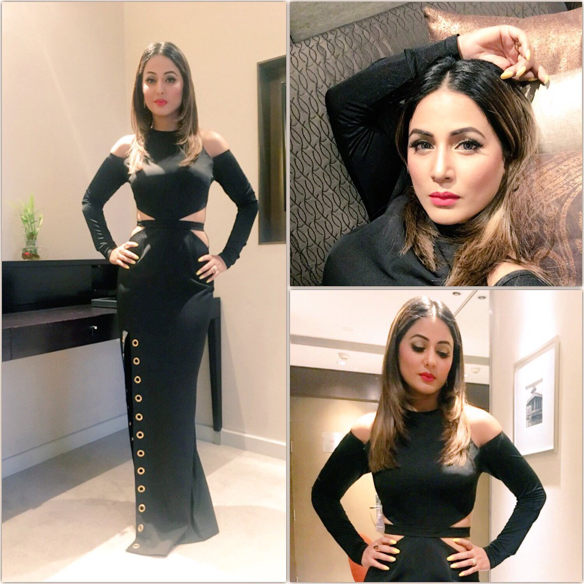 Black Love Hina Khan Looks Classy As Ever In This Beautiful Gown