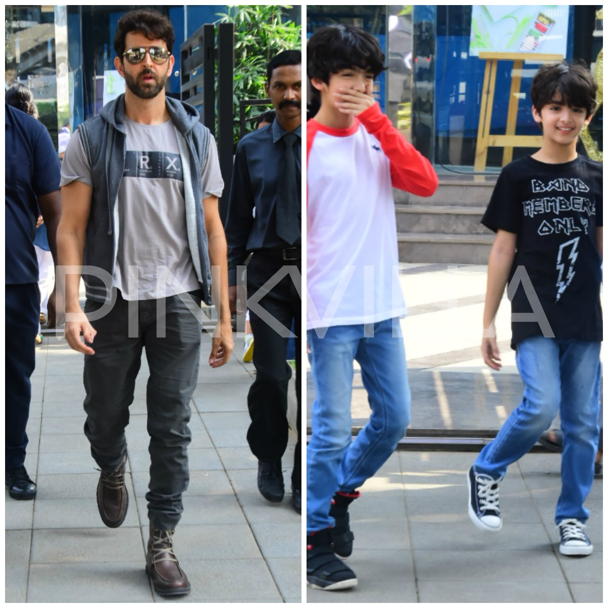 Hrithik Roshan hangs out with sons Hrehaan and Hridhaan on a