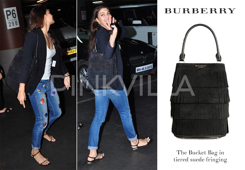84eb5eef3a0e Fringe all the way. Jacqueline scores high on this look by pairing it with a  chic Burberry bag. Casual luxe