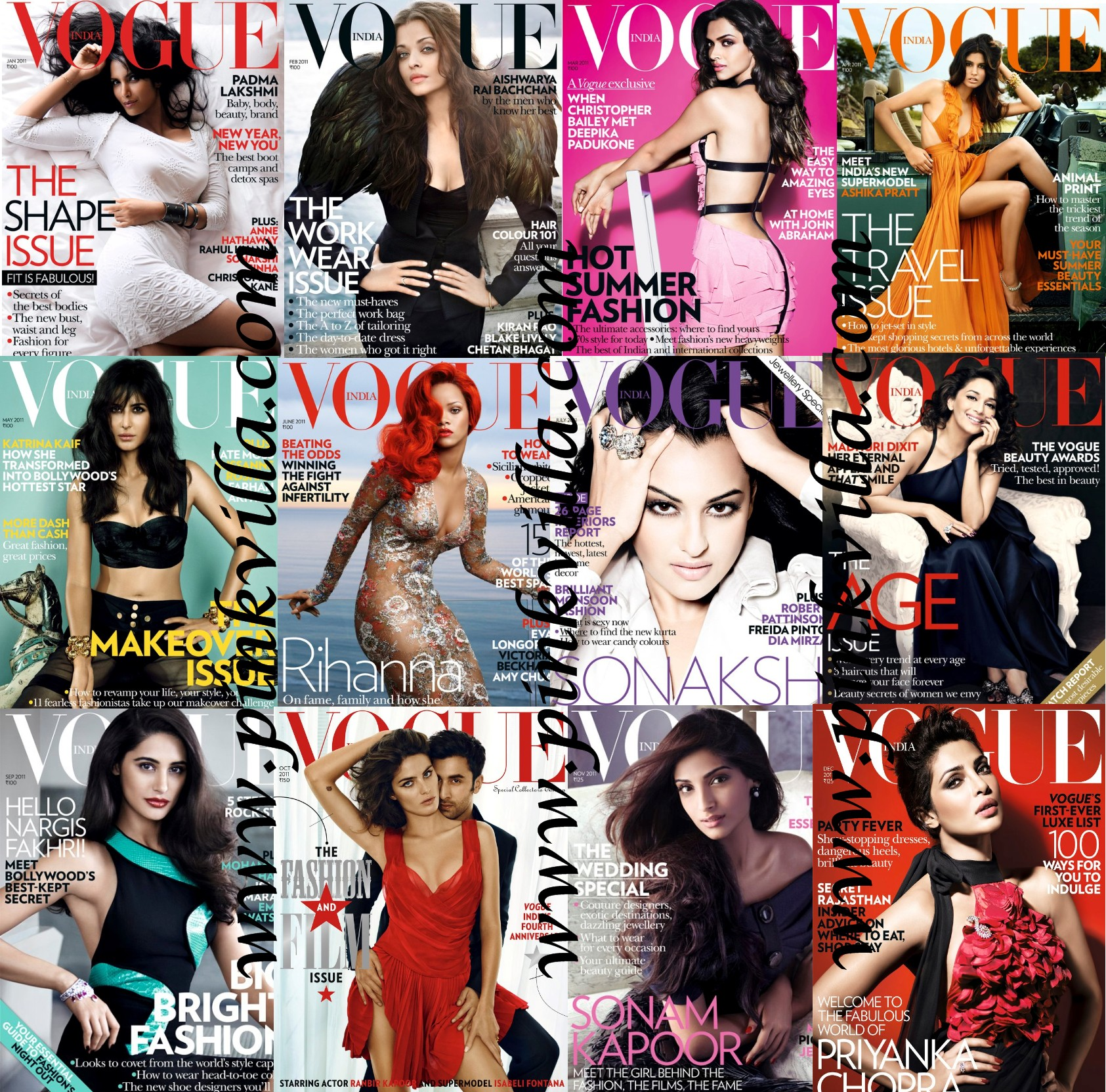 Vogue india 2011 covers pick your favorite pinkvilla for Villas vogue