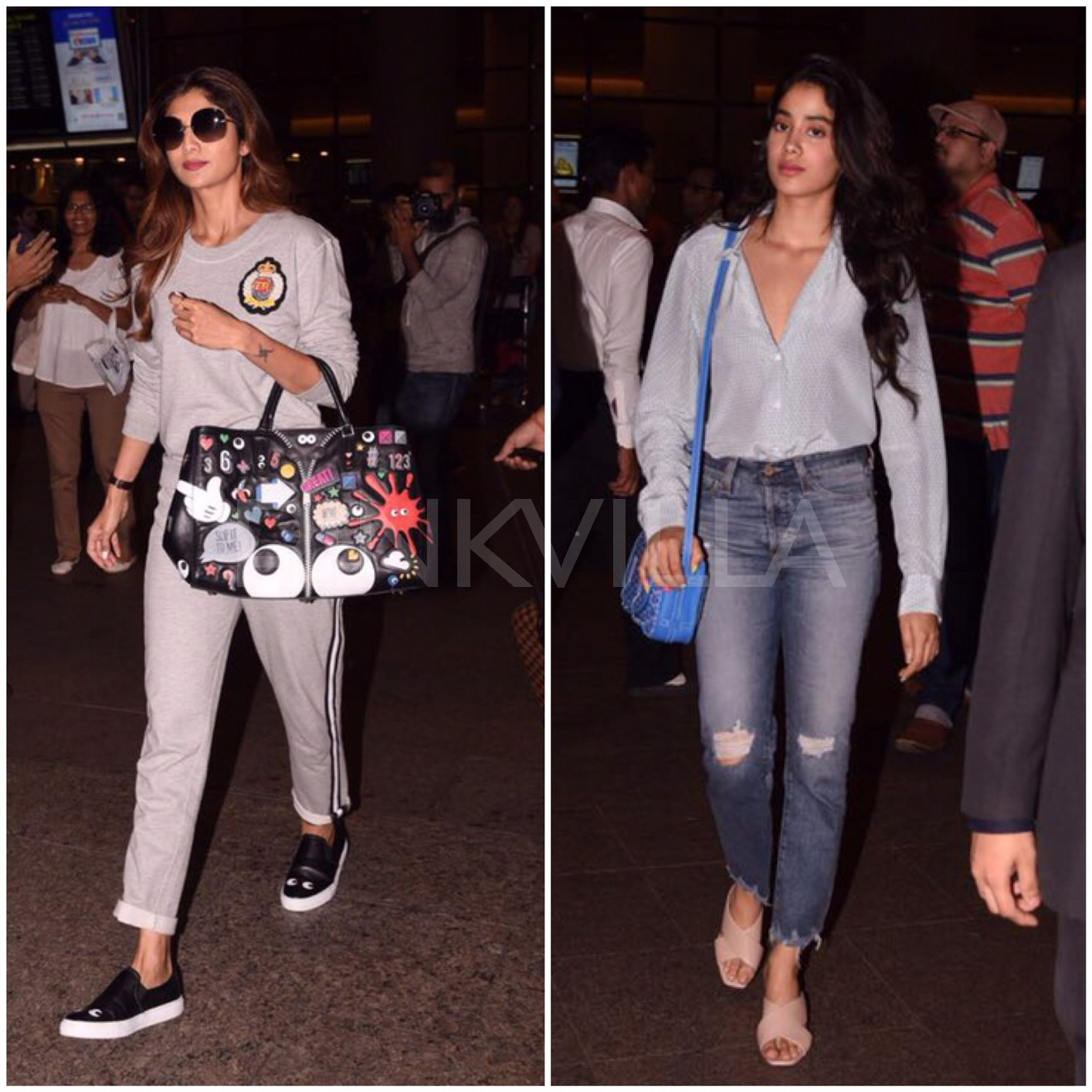 6459c269ae Photos: Jhanvi Kapoor and Shilpa Shetty look gorgeous as they get papped at  the airport | PINKVILLA