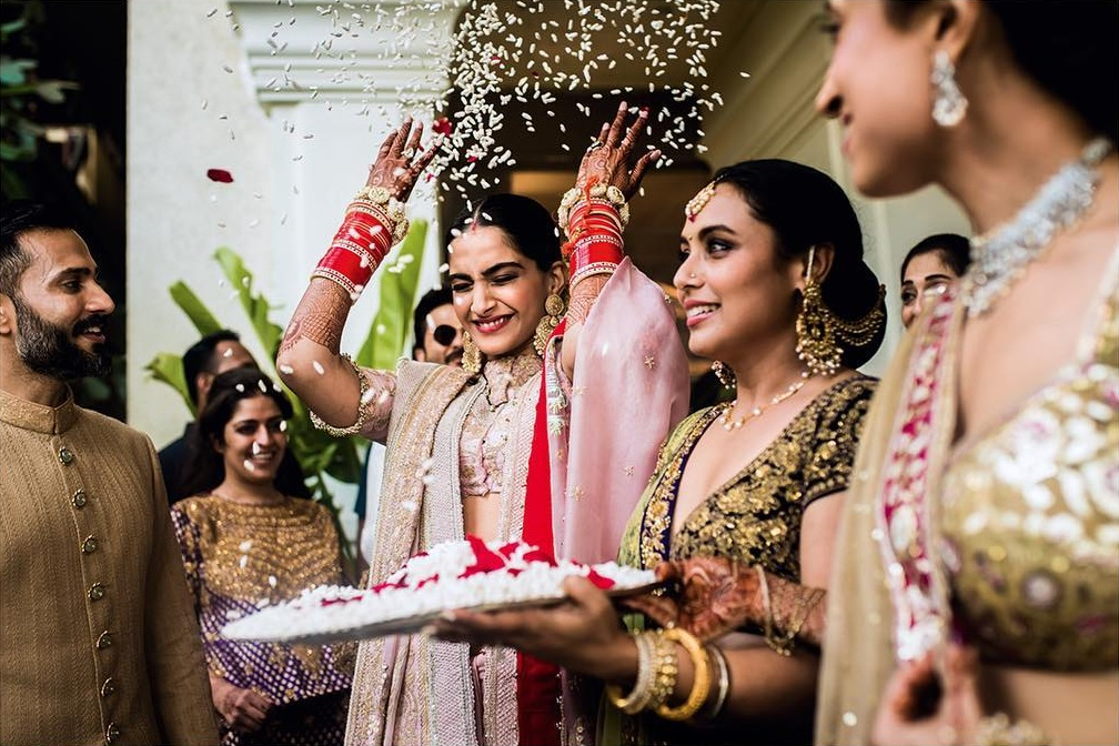 Image result for sonam anand wedding day designer
