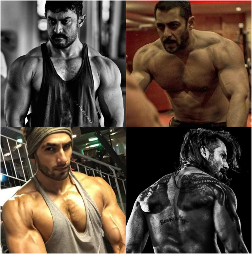 Which B Town Hottie Nails The Beefed Up Look Aamir Salman Shahid