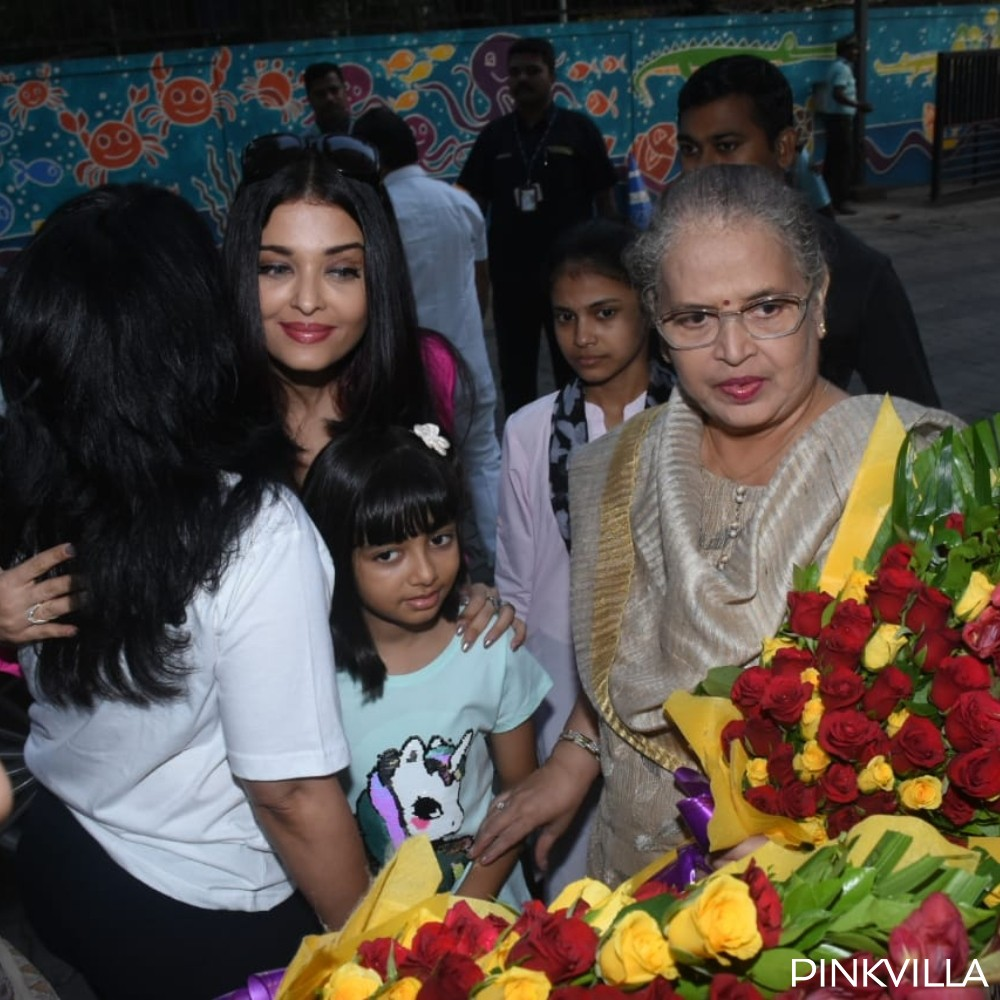 PHOTOS: Aishwarya Rai looks like a boss lady as she arrives at an event with mom Vrinda & daughter Aaradhya