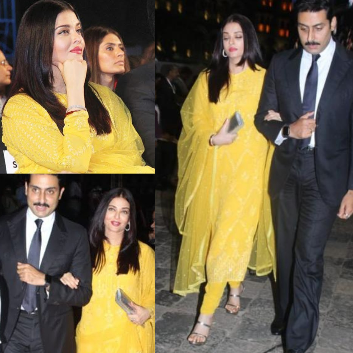 Aishwarya Rai Bachchan is a vision in this sunshine yellow suit and we're all for it; Yay or Nay?
