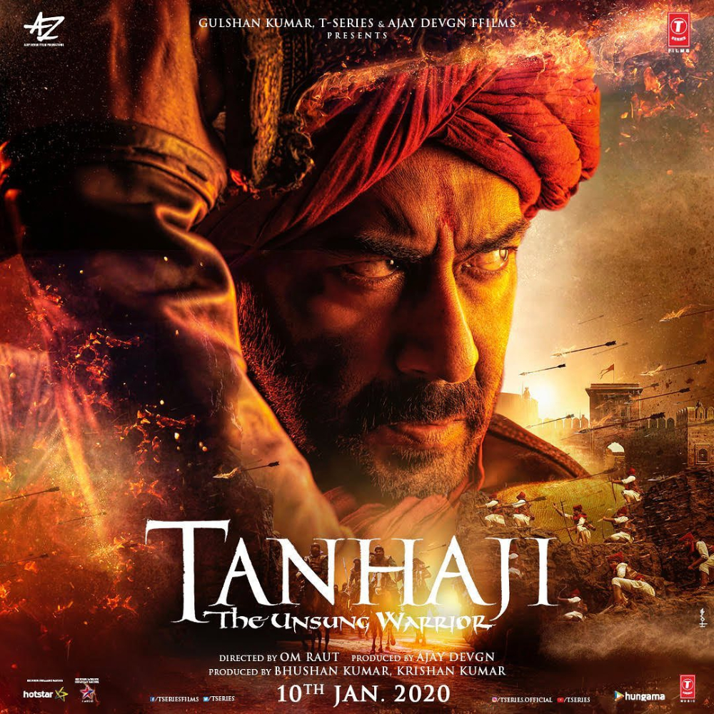 Tanhaji The Unsung Warrior First Poster Out: Ajay Devgn's intense and fierce look revealed; Check it out