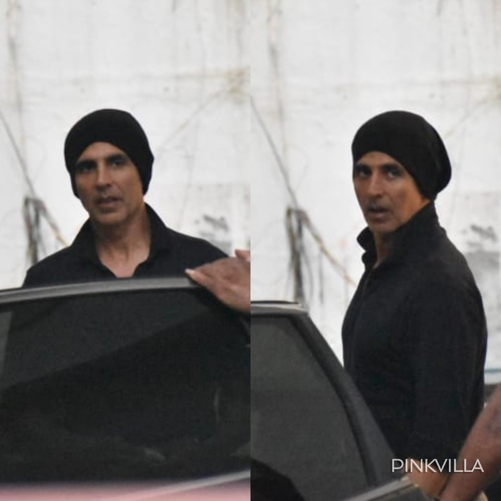 Akshay Kumar sports a beanie as he steps out of a dubbing studio & we can't get over his new look; See Pics