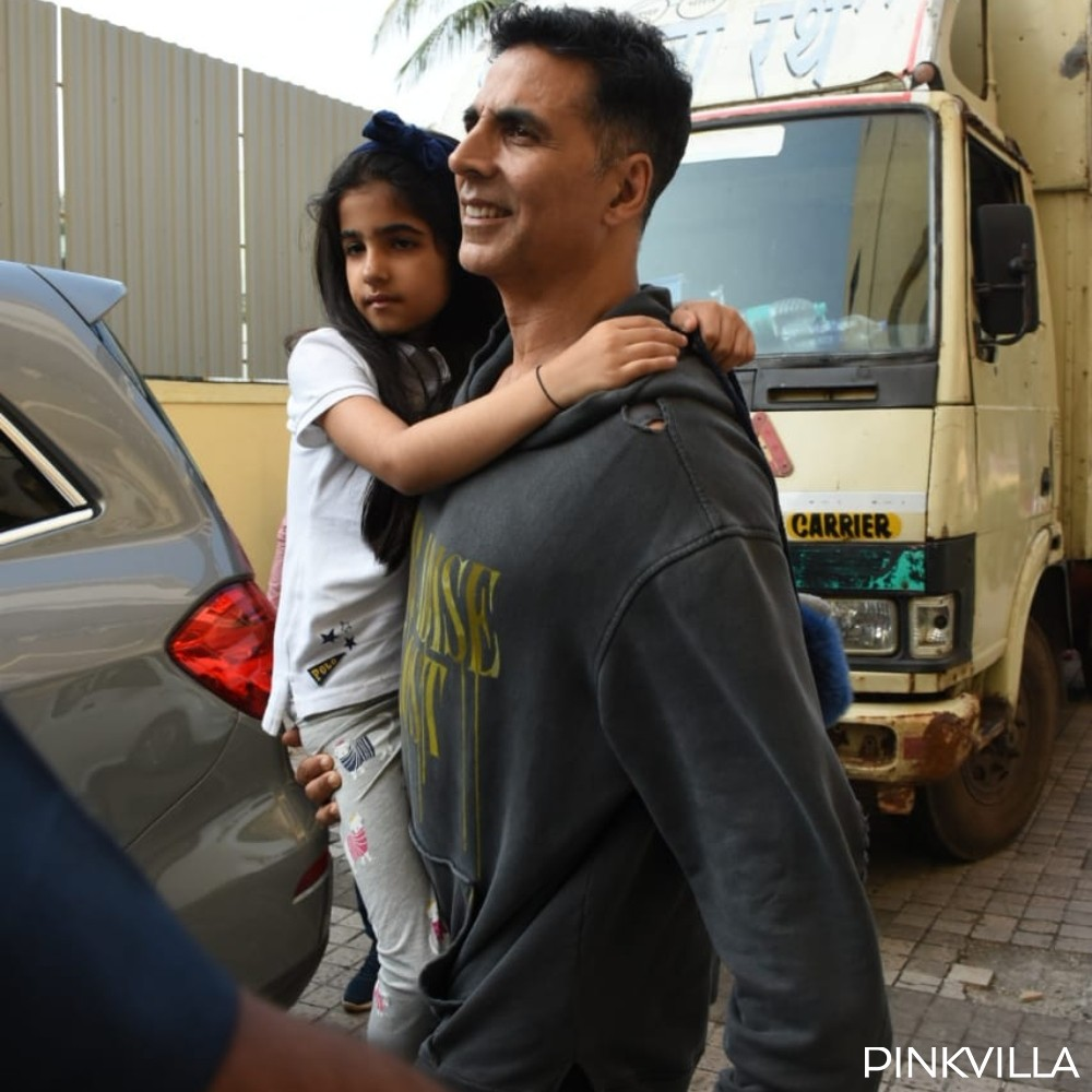 PHOTOS: Akshay Kumar gets papped with daughter Nitara as they step out in the city