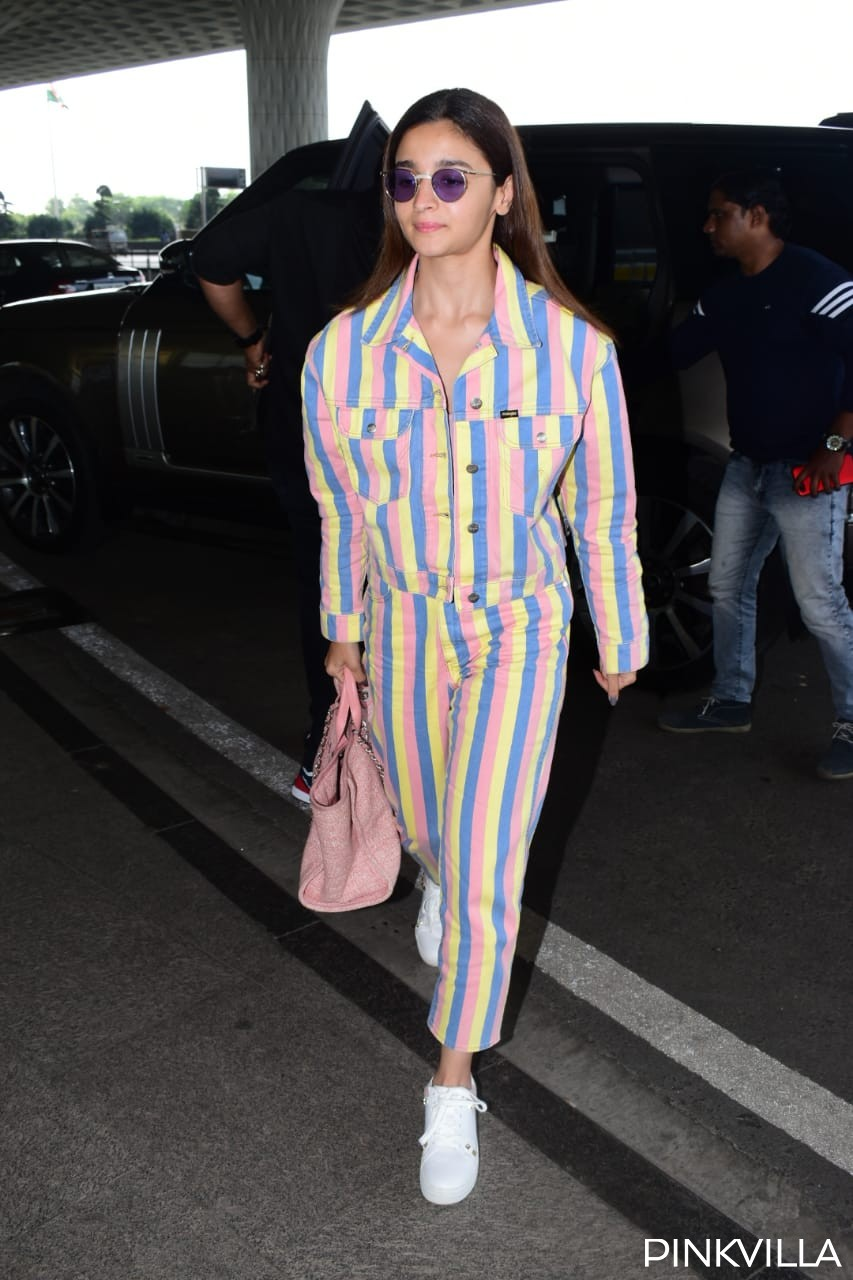 PHOTOS: Alia Bhatt turns up the oomph as she stuns in a multi coloured outfit at the airport