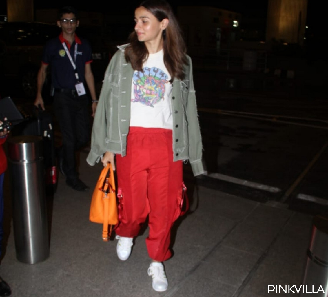 PHOTOS: Alia Bhatt keeps it cool and casual as she heads off to London after returning from Sadak 2's shoot
