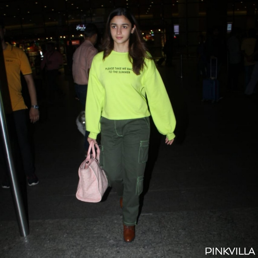 PHOTOS: Alia Bhatt sports an ultra cool winter OOTN as she returns to Mumbai post Brahmastra's shoot in Manali