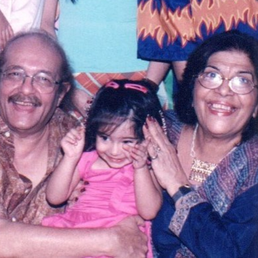 Ananya Panday is a bundle of cuteness as she sits in her grandfather's lap as a toddler in THIS throwback pic
