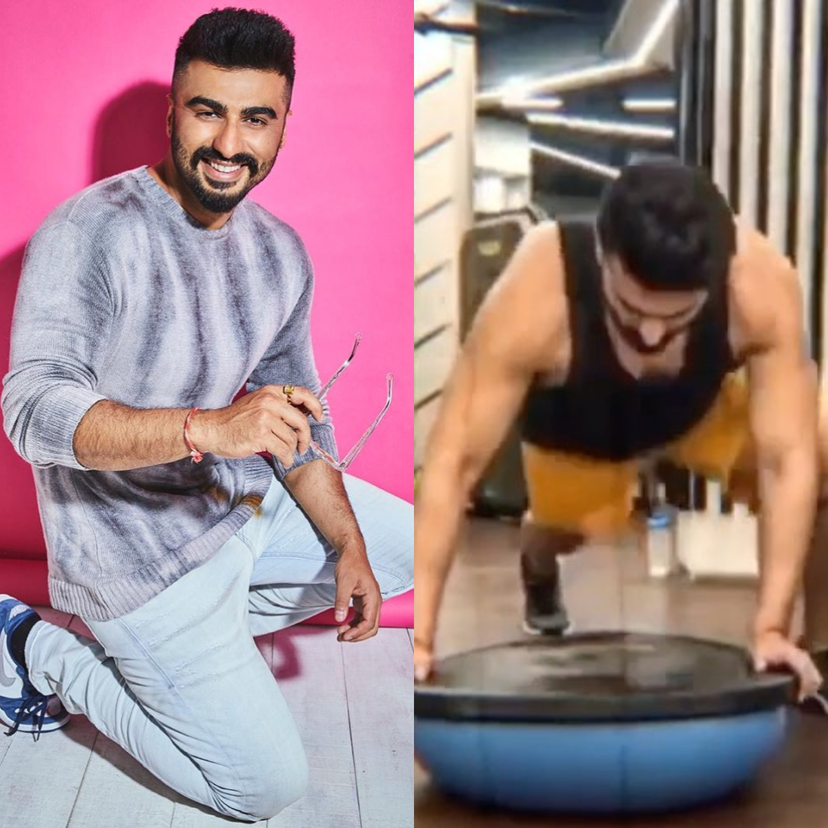 Arjun Kapoor's latest post will drive away your mid week blues and give you major workout motivation; Watch