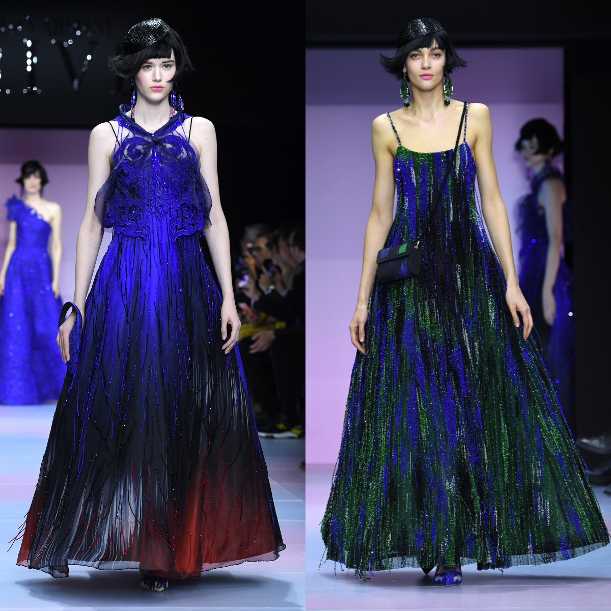 Armani's Haute Couture show at Paris Fashion Week was all about the exuberant print Ikat