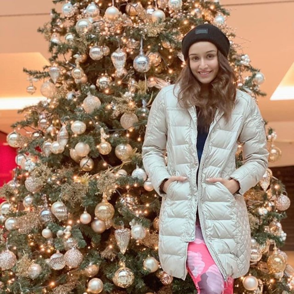 Baaghi 3: Shraddha Kapoor shells out festive vibes as she poses next to a decked up Christmas tree in Serbia