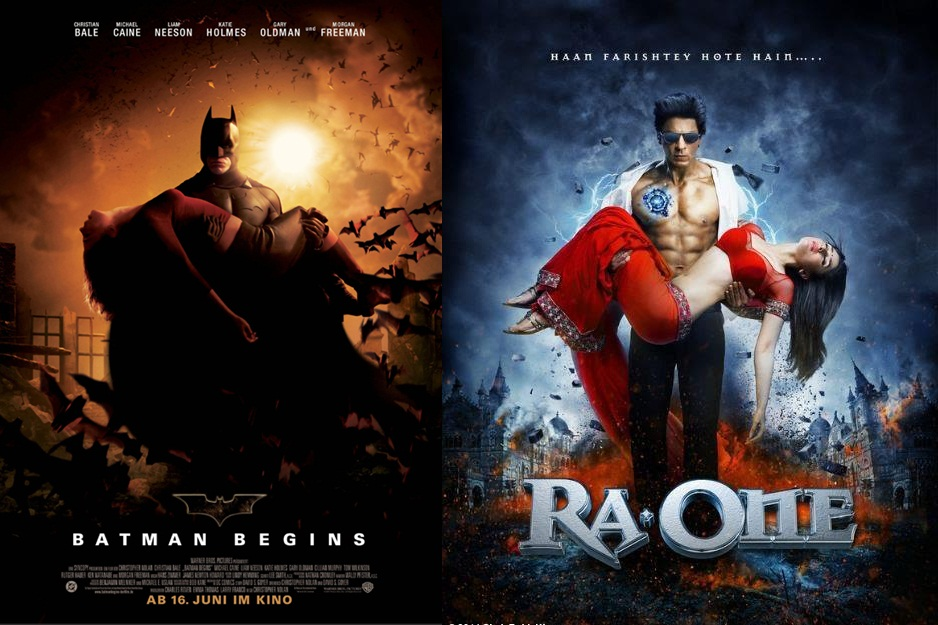 Ra.One Poster inspired from other superhero posters ...