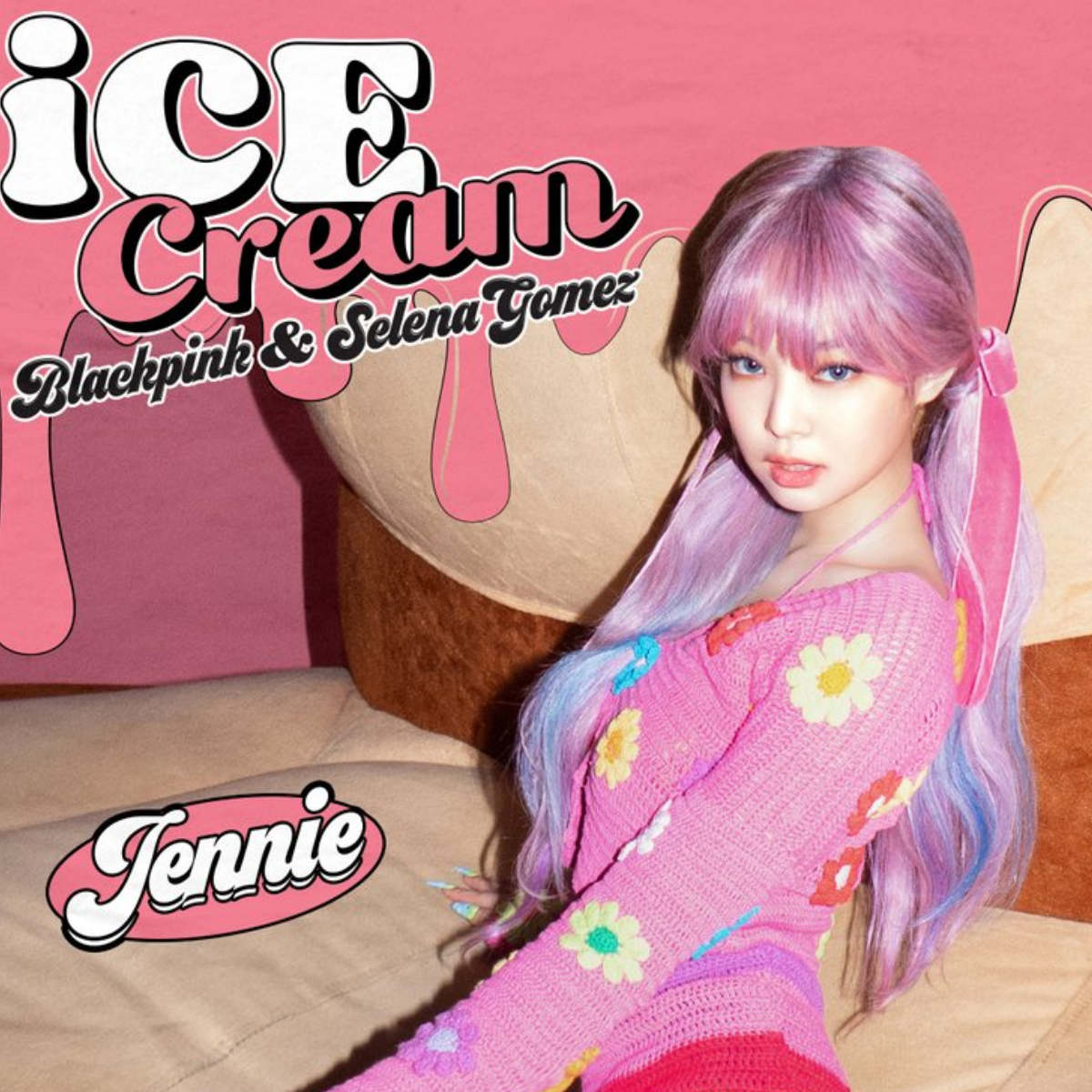 Blackpink Ft Selena Gomez Ice Cream Jennie Channels Her Inner Barbie In D3 Poster We Re In Awe Of Her Hair Pinkvilla