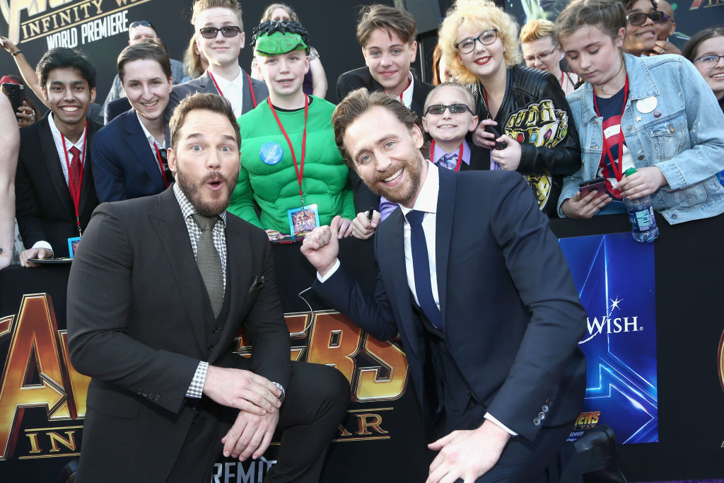 Chris Pratt gives a witty reply to a fan having an orgasm during Loki star Tom Hiddleston's Broadway show