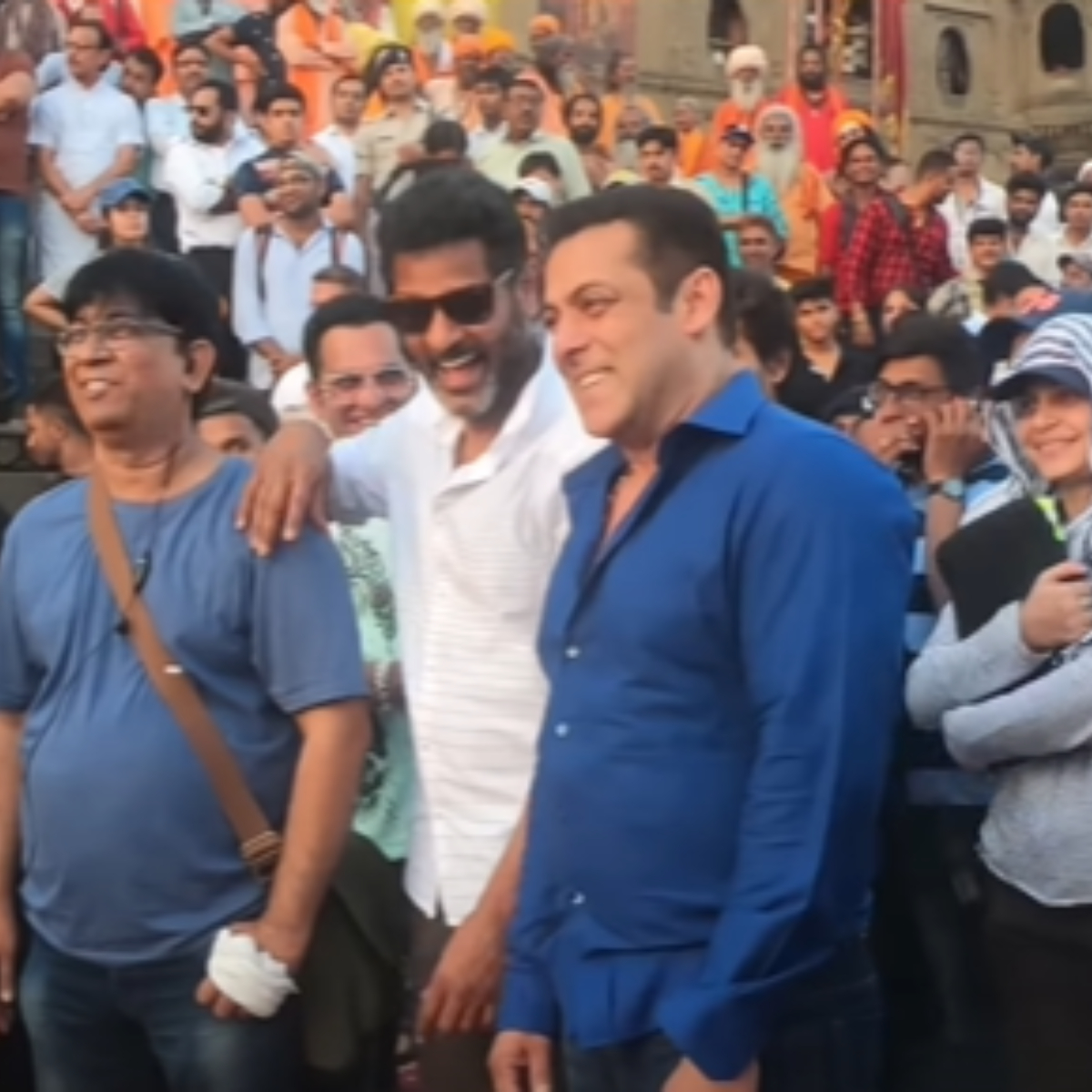 Dabangg 3: Salman Khan is seen having a gala time in the BTS video of 'Hud Hud' with his team; Watch