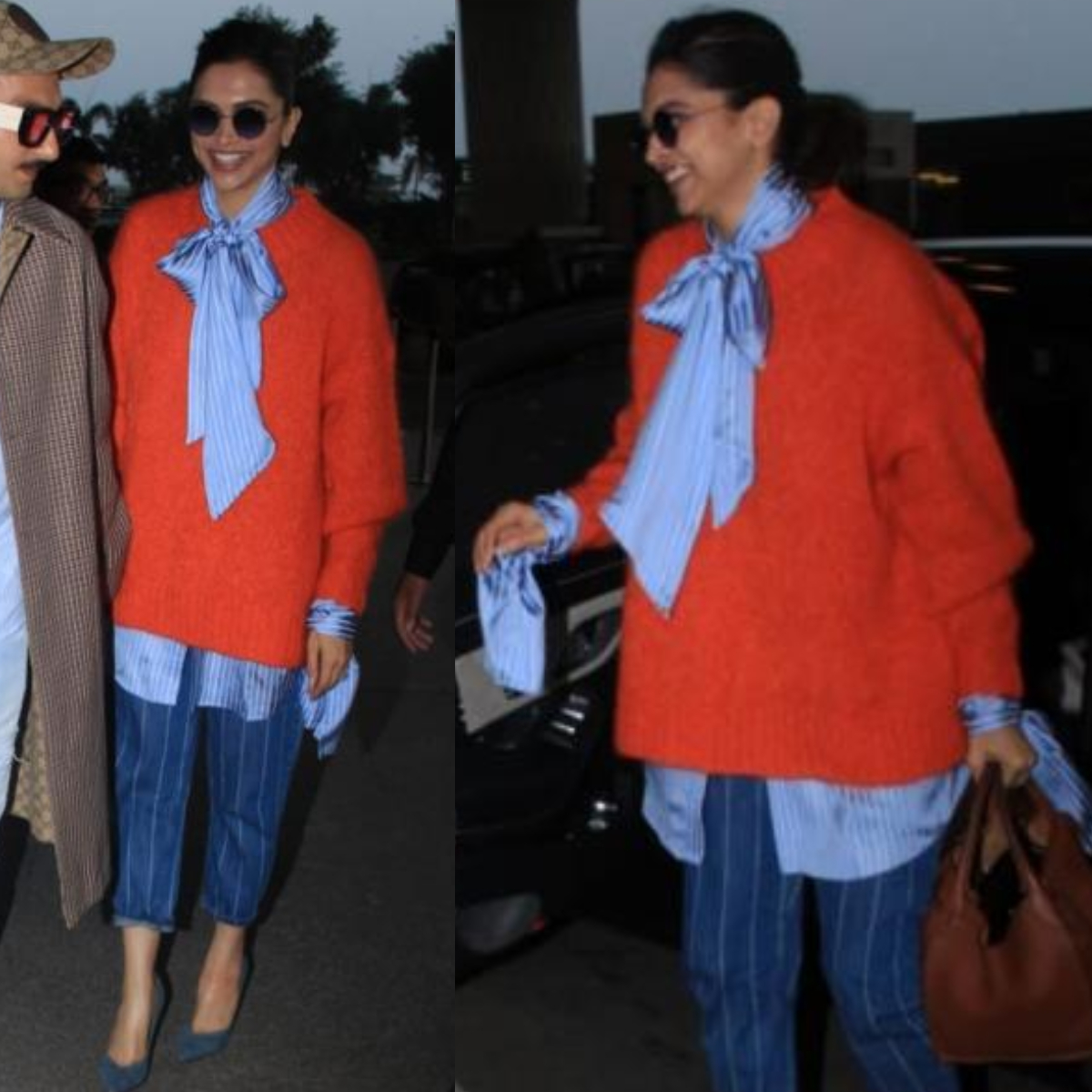 Deepika Padukone does winter fashion right in a bright oversized Zara sweater with a Rokh shirt; Yay or Nay?