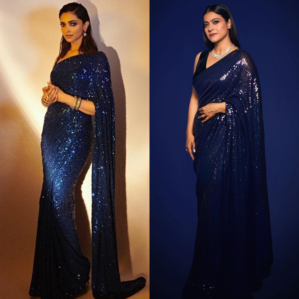 Fashion Faceoff: Deepika Padukone in Sabyasachi or Kajol in Manish Malhotra: Who wore the sequin saree better?