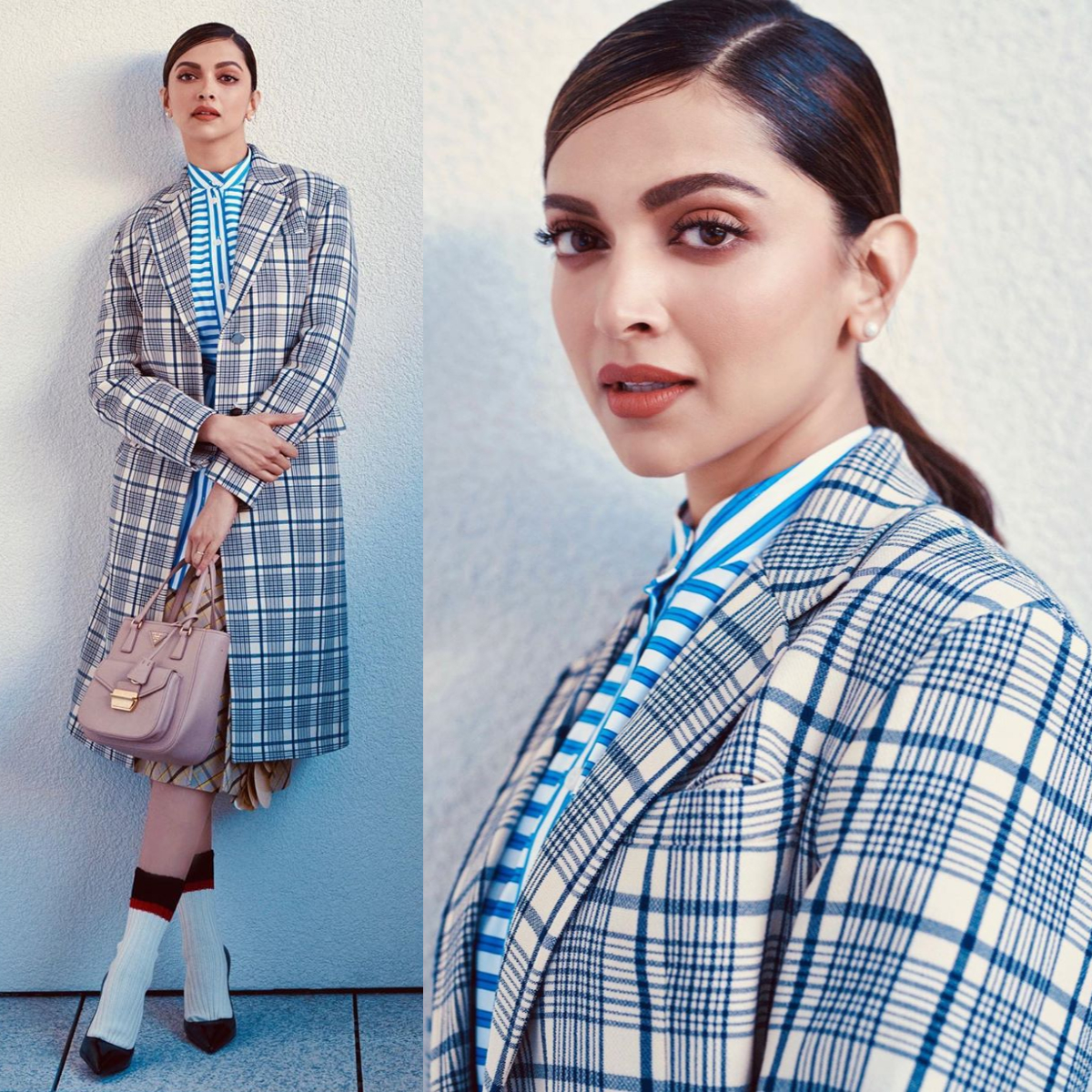 Deepika Padukone is all about pairing together tricky patterns in head to toe Prada: Yay or Nay?