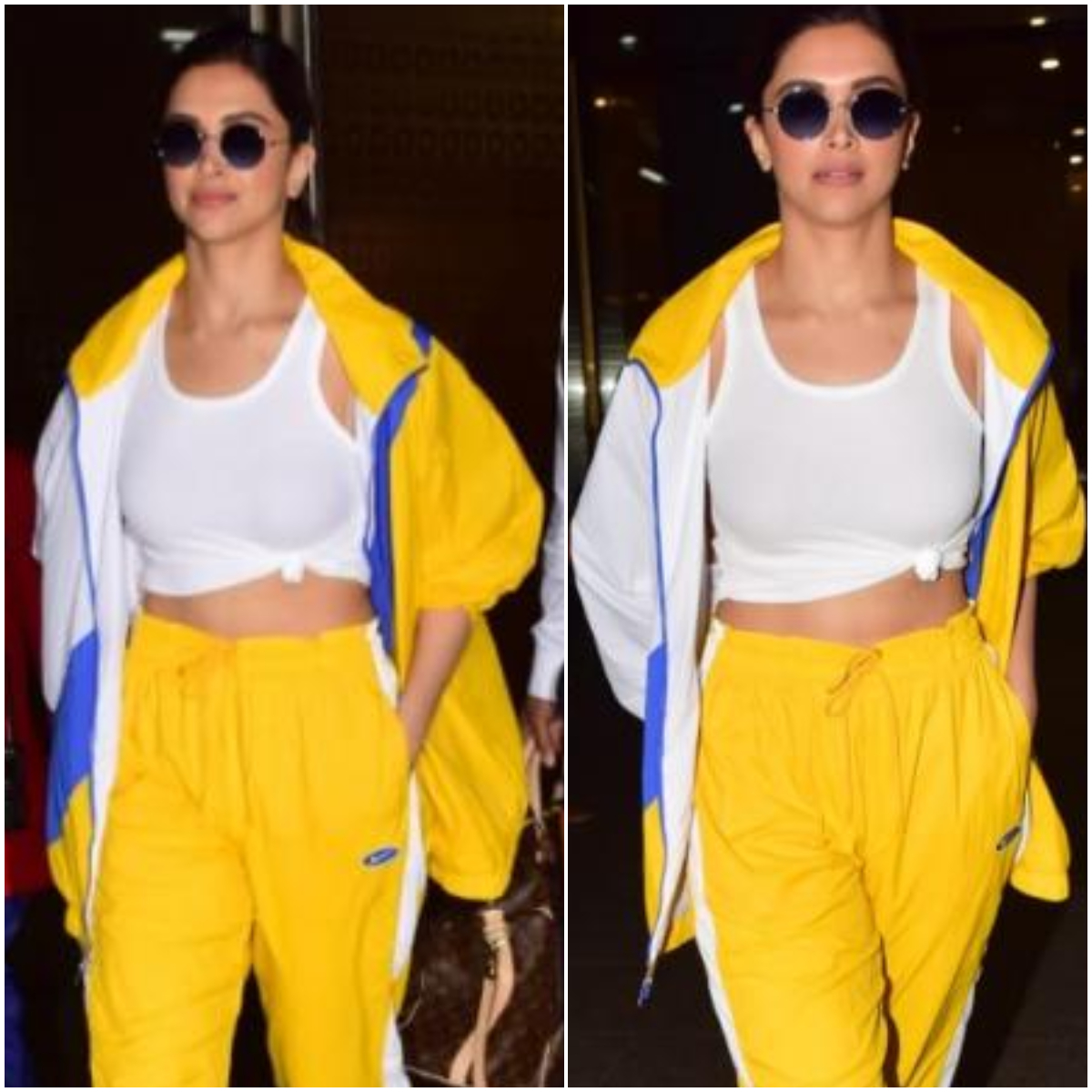 Deepika Padukone proves yet again she is the queen of airport looks in a tracksuit with a 'knotty' twist