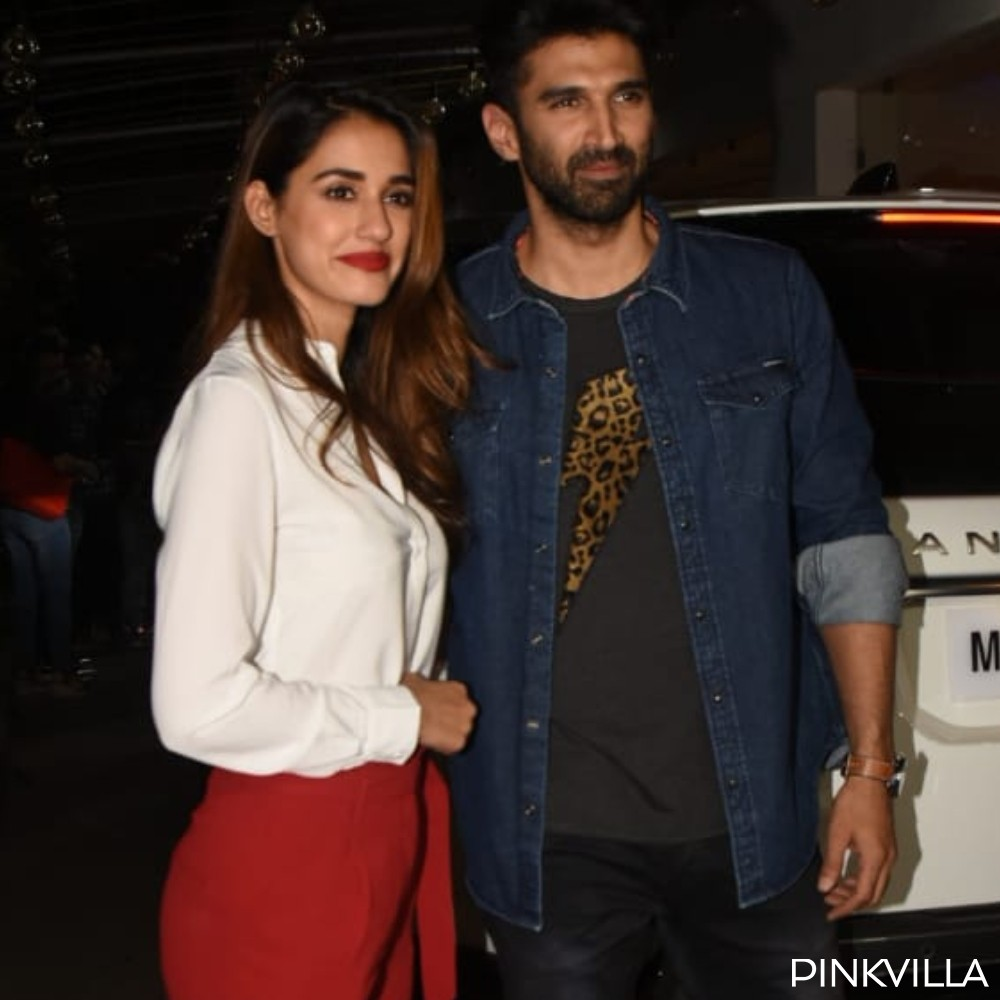 Photos Malang Actors Disha Patani Aditya Roy Kapur Look Content As They Step Out For Promotions Pinkvilla