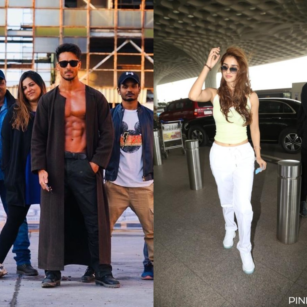 Disha Patani REACTS to Tiger Shroff's latest PHOTO as he flexes his muscles & fans go 'It's LIT'; Take a look