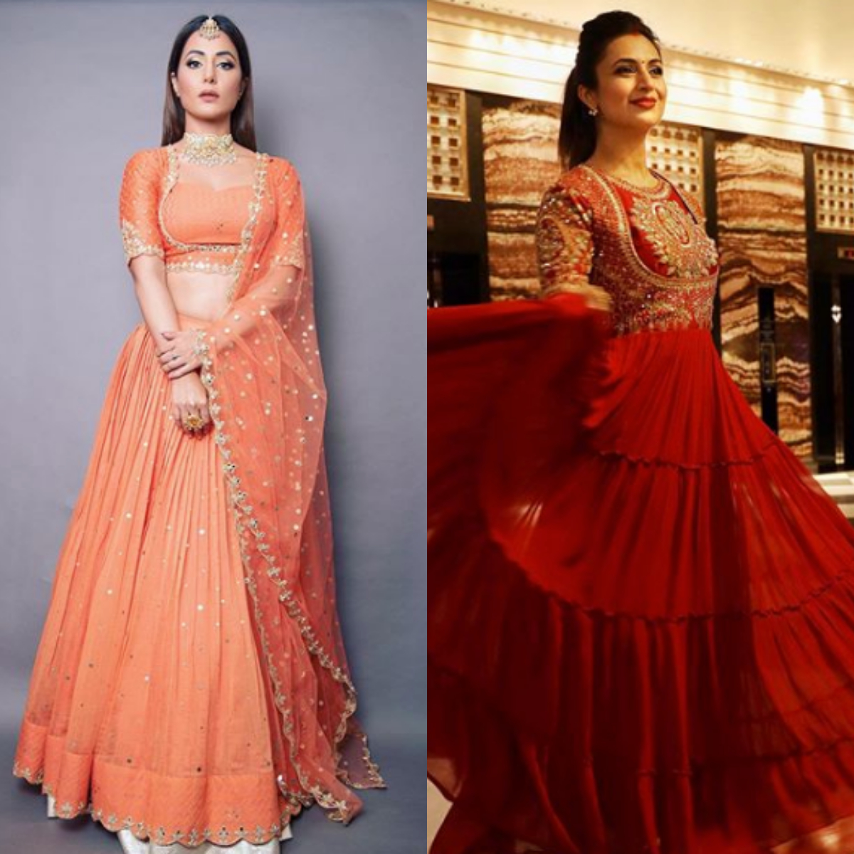 Hina Khan, Divyanka Tripathi and more are giving us major FESTIVE outfit goals with their desi looks