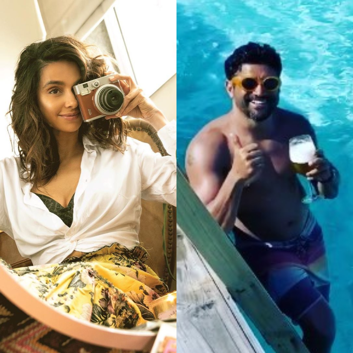 Farhan Akhtar credits girlfriend Shibani Dandekar for the 'splashback' video from Maldives vacay; WATCH
