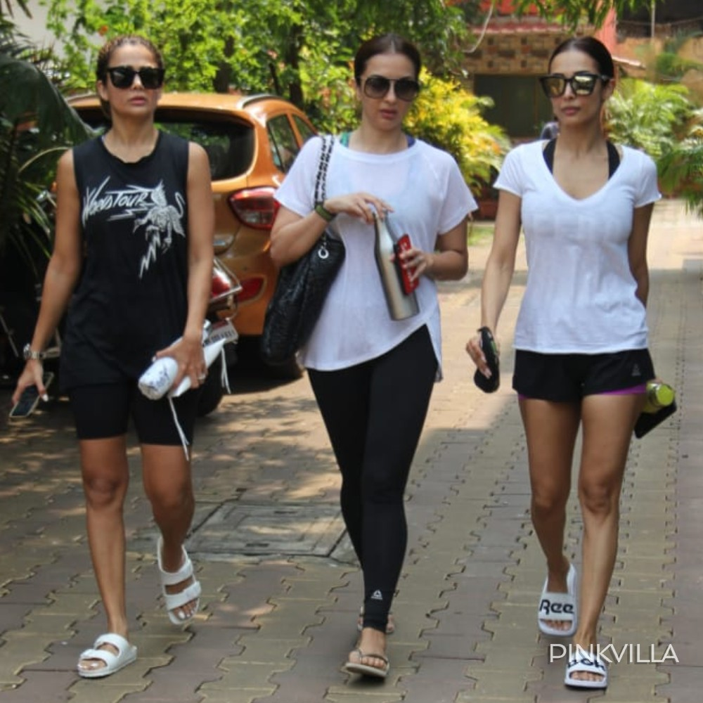 PHOTOS: Malaika Arora is all pumped up for a workout session with her girl trio; Check it out