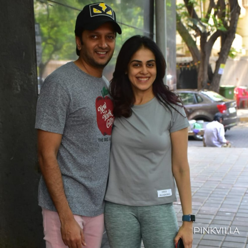 PHOTOS: Housefull 4 actor Riteish Deshmukh and Genelia D'Souza are all smiles as they head for a coffee date