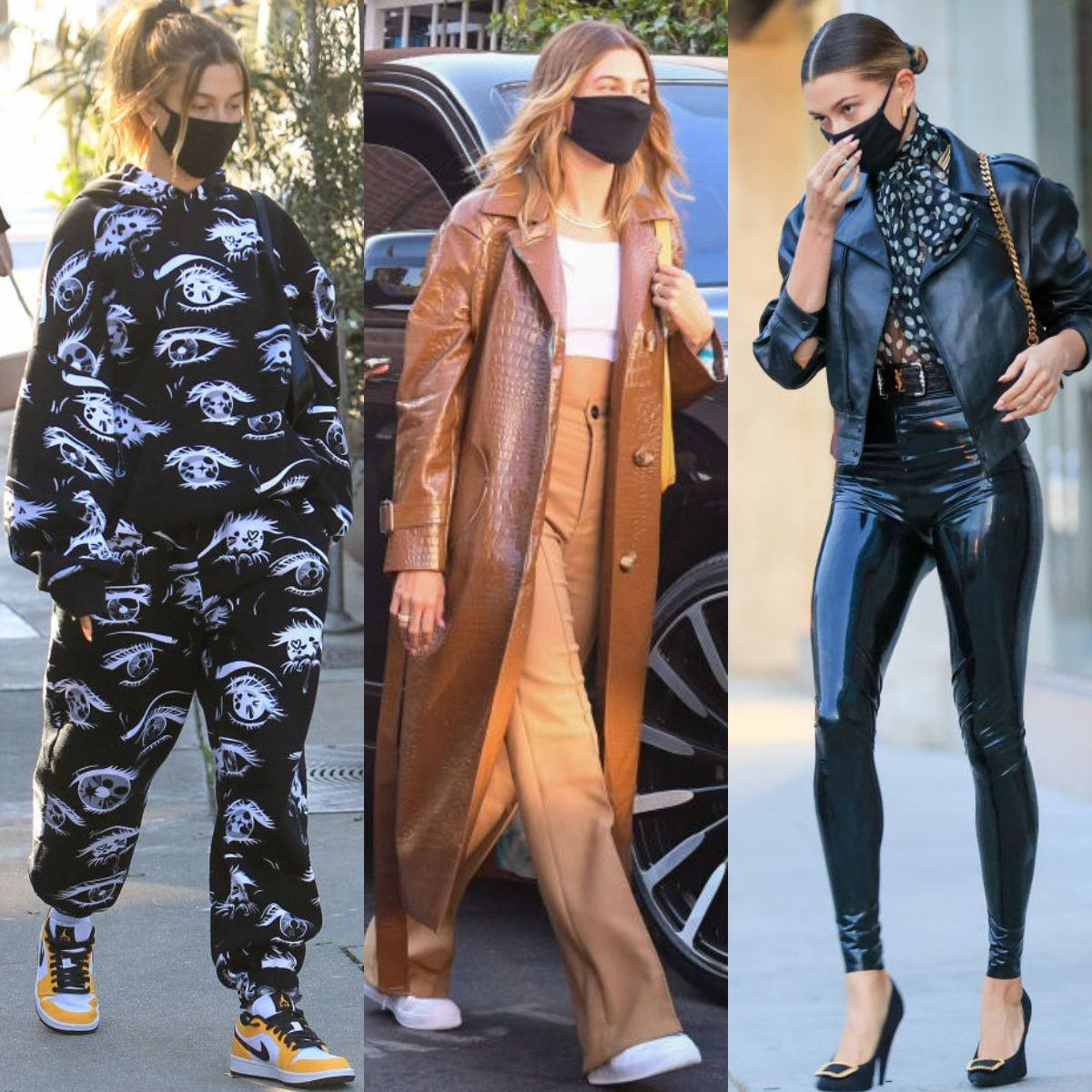 Hailey Bieber goes from slouchy loungewear to trendy minimal seamlessly and we are taking note