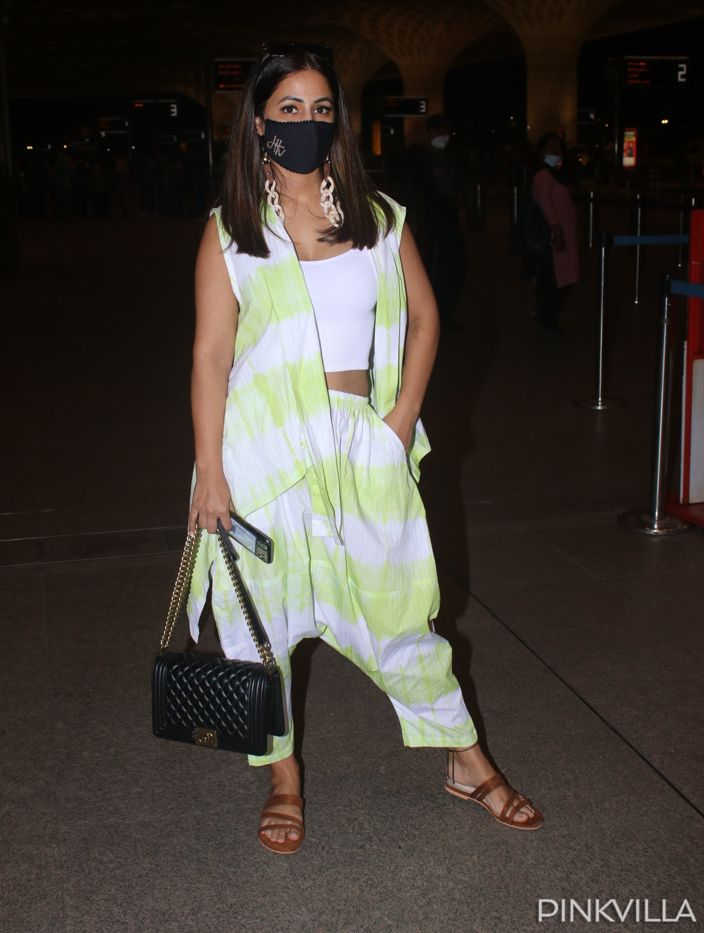 PHOTOS: Hina Khan keeps it comfortable yet stylish for her airport look as she heads to Indore