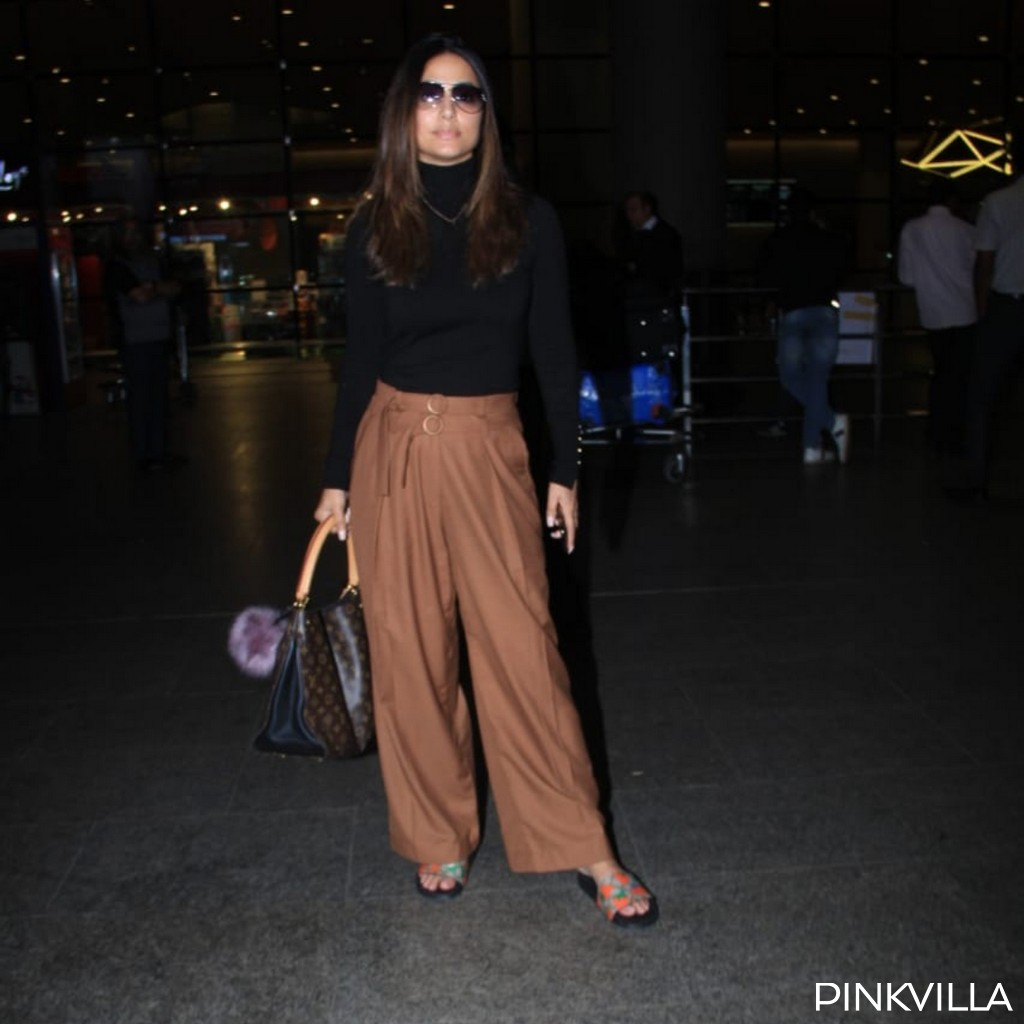 PHOTOS: Hina Khan opts for a chic look as she returns to Mumbai post Hacked promotions in New Delhi