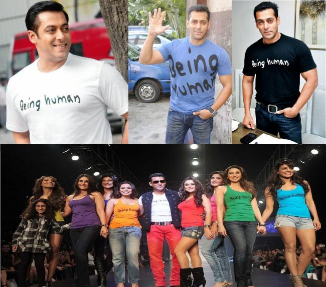 Being Human: Salman has started an NGO called 'Being Human' which sells T-shirts and other products online and in stores. A portion of the sales goes to a worthy cause supporting the underprivileged. Being Human Foundation is a registered charitable trust set up by Salman Khan for helping the cause of the underprivileged.