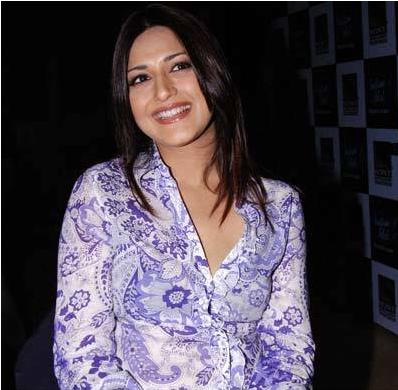 Sonali Bendre for the promotional press meet of Indian ...