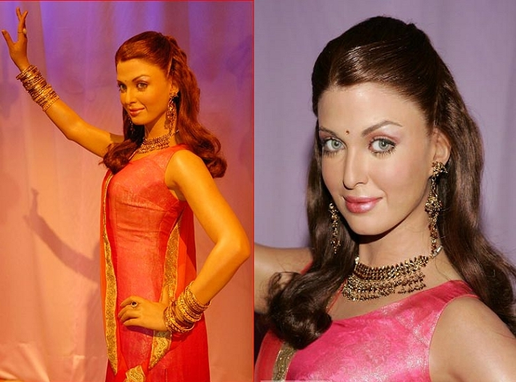 Aishwarya's Punjabi wax figure at display in the New York museum