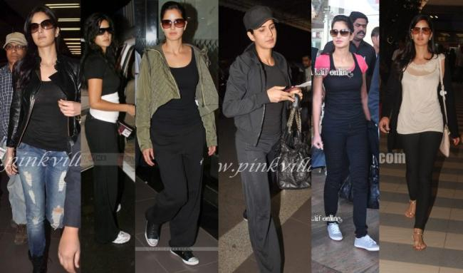 Katrina Kaif: Have noticed Katrina mostly travels in black & not to forget the shades.