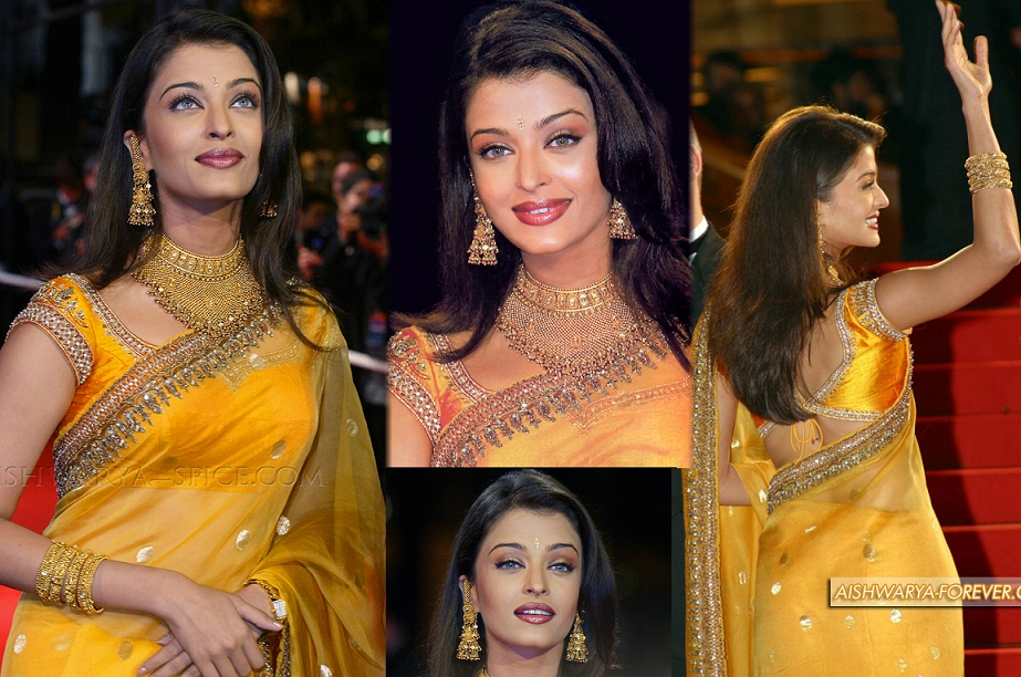 2002: Aishwarya's first ever appearance for the premiere of her film Devdas.