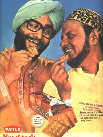A Parle-Crackjack advertisement from 1980s