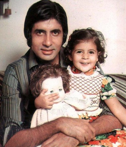 Amitabh with Daughter Shweta