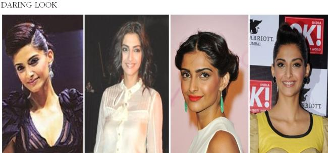 From left: Sonam kapoor at Auto expo 2010, Manish Malhotra Show 2010, Photocall of the Chopard's party Cannes 2011, OK! magazine launch 2011