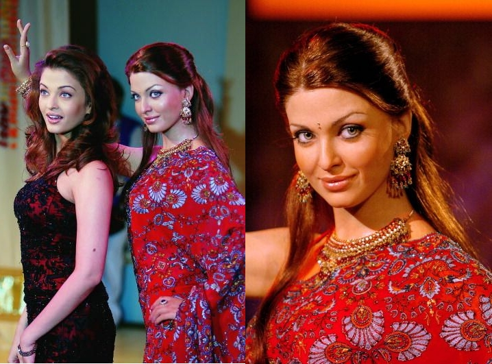 Aishwarya  unveiling her first wax statue in London in October 2004