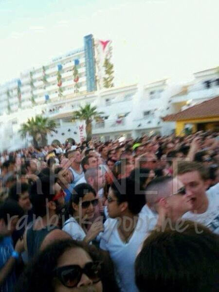 Here is a picture of Katrina , Ayan & Ranbir in Ibiza , Spain