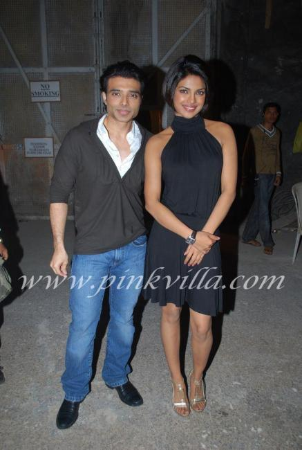 Priyanka Chopra & Uday Chopra promote Pyaar Impossible on DPL sets 100572